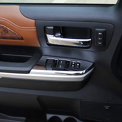 Chrome Inner Rear Central Armrest AC Vent Cover Trim for Toyota Tundra 2014 2015 2016 2017 2018 2019 Justautotrim